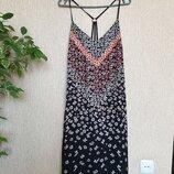Очень красивое платье на тонких брителях, сарафан, комбинация от river island