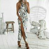Под заказ Платье Сарафан длинный с открытыми плечами Размеры S-XL