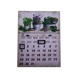 Вечный календарь «Растения в кашпо», металлический, 25х33 см OR-1023