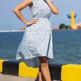 Женское летнее платье с интересным принтом ткань турецкий софт скл.1 арт.55814