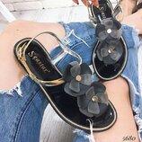 Хит силиконовые сандалии босоножки с цветами 36-41рр, польша