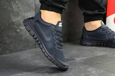 Кроссовки мужские летние Nike Free Run 3.0 dark blue