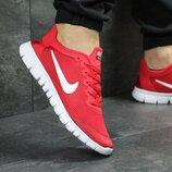 Кроссовки мужские летние Nike Free Run 3.0 red