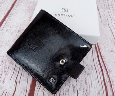 Мужской кожаный кошелек Bretton. Кожаный бумажник в коробке. Гаманець шкіра