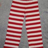 Пижамные штаны Debenhams в розово-белую полоску. На девочку 7-8 лет. Рост 122-128 см