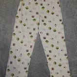 Пижамные штаны TU с разноцветными совами по всей ткани. На девочку 7-8 лет. Рост 122-128 см.