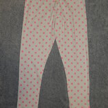 Пижамные штаны M&S в розовый горошек по всей ткани. На девочку 9-10 лет. Рост 134-140 см.