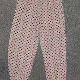 Пижамные штаны H&M в разноцветный горошек по всей ткани. На девочку 6-8 лет. Рост 122-128 см.