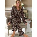 Стильная флисовая леопардовая пижама