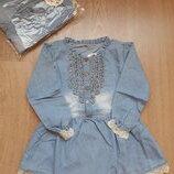 Платье детское с длинным рукавом