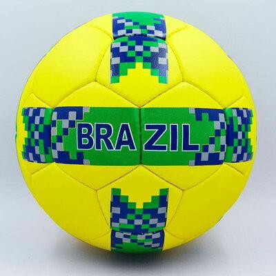 Мяч футбольный 5 гриппи Brazil 0126 PVC, сшит вручную