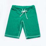 Удлиненные детские летние шорты бермуды для мальчика 98 104 110 116 122 128 зеленый