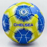 Мяч футбольный 5 гриппи Chelsea 0107 PVC, сшит вручную