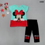 Летний костюм Minnie Mouse футболка и бриджи