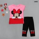 Летний костюм Minnie Mouse футболка и бриджи.