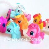 Набор для купания My little pony,6 шт,пищалки,резиновые игрушки,пони
