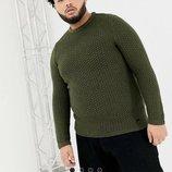 Трендовый джемпер с круглым вырезом asos, зеленый свитер plus size, кофта asos