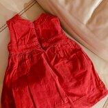 Сарафан john lewis красный платье микровельвет 2-4 года