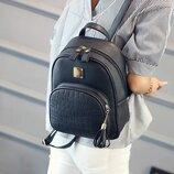 Женский рюкзак-сумка эко-кожа, городской 2 цвета серый, черный
