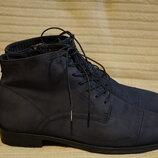 Мягчайшие темно-синие ботинки из натуральной замши Vagabond Швеция 39.
