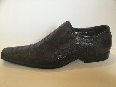 Туфли Carlo Delari натур. кожа р. 39 - 45 мод.а65 оригинал