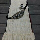 Модне плаття,сарафан сумочка на пояс хлопок,мереживо
