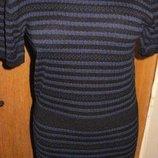 синя сукня полоска Zara M