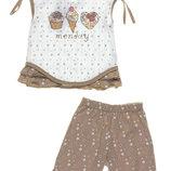 Летний комплект костюм Бемби майка и шорты, хлопок