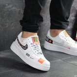 Кроссовки мужские Nike Air Force 1 Just Do It white