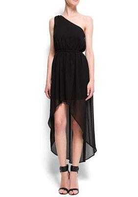 Платье асимметричное на одно плечо mango