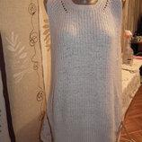 Идеальная бежевая блуза M&S,рS,55акрил,45 полиамид,тянется,сток