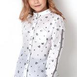 Блуза с длинным рукавом c принтом на девочку Тм MEVIS 2899