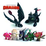 Набор фигурок Как приручить Дракона 7 шт 5-7 см Игрушки Викинги Отличное качество