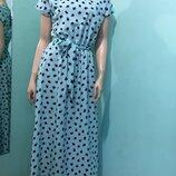 Элегантное Женское Летнее платье макси 42,44,46,48,50 размер