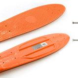 Дека для пенни борда с подвеской Fishskateboards дека для пенни нагрузка до 80кг, оранжевый