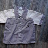 Шведка, рубашка с коротким рукавом 9-12 мес.