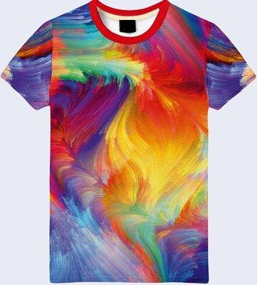 Мужская футболка 3D Краски Большой выбор