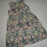 Фирменное h&m веселенькое платье девочке 6-8 лет хлопок идеал