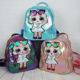 Городской детский перламутровый рюкзак. Рюкзачок для девочки. Др1