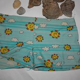 Яркие,принт летнего солнца плавки-шортики для мльчика от 3до 5лет