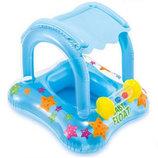 Надувной плот с навесом круг ходунки Baby Float Intex 56581