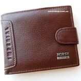 Кожаное портмоне нorse imperial. Мужской бумажник из натуральной кожи. мужской кошелек.