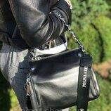Женская кожаная сумка Polina & Eiterou жіноча шкіряна черная голубая белая розовая жіноча шкіряна