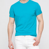 Мужская футболка голубая Lc Waikiki / Лс Вайкики с круглым вырезом