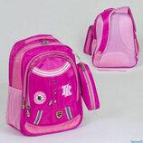Рюкзак школьный 36211, 3 отделения, 3 кармана, пенал