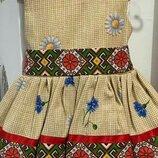 Украинское детское платье