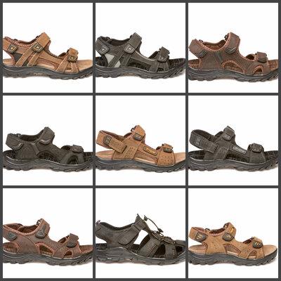 Кожаные мужские сандалии босоножки RESTIME Р. 36-49 полномерные