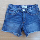 шорты детские джинсовые 7 лет 122 см Zara Зара