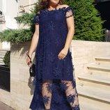 Длинное коктейльное платье 48-64 р-р