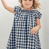 Симпатичное платье Next 2017 в сине-белую клетку на 4-5 лет